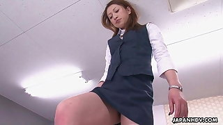 Office lady gets the best sixty nine for her boss
