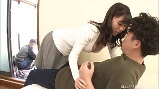 Japanese MILF in lingerie Katou Honoka gets her hairy pussy pounded
