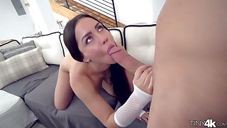 Tiny unspecified around chesty irritant Alina Lopez hooks near around hot blooded coxcomb around huge phallus